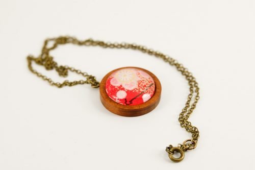pink blossom pendant