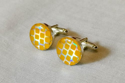 lemon retro cuff links