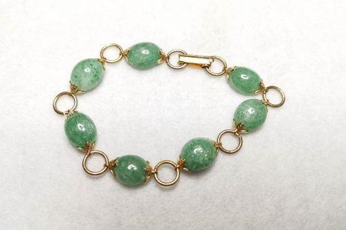 aventurine link bracelet