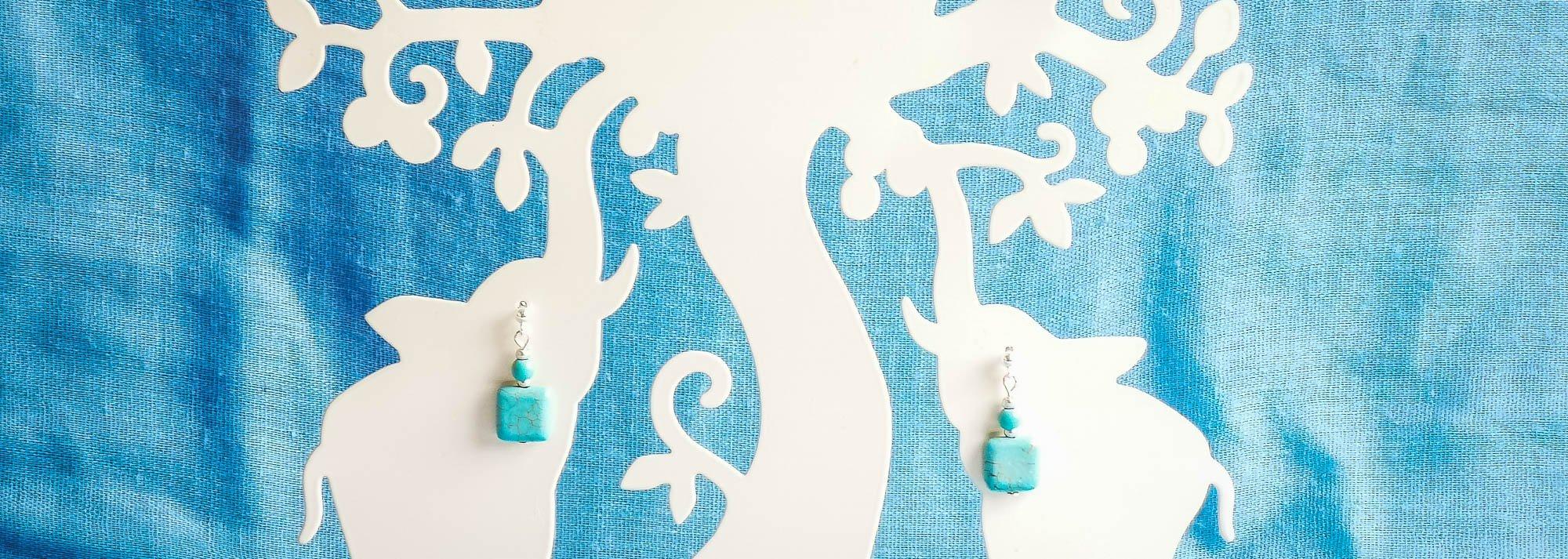 turquoise gemstone earrlings