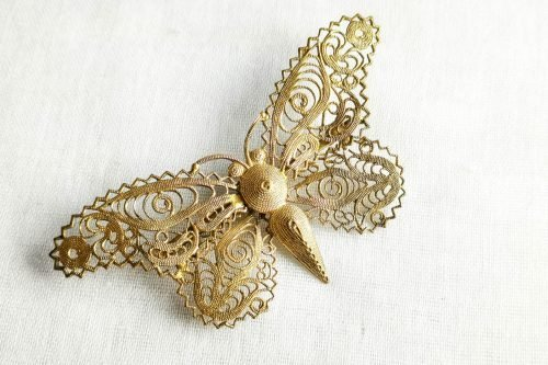 filigree butterfly brooch