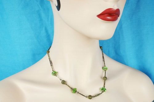 emerald glass necklace