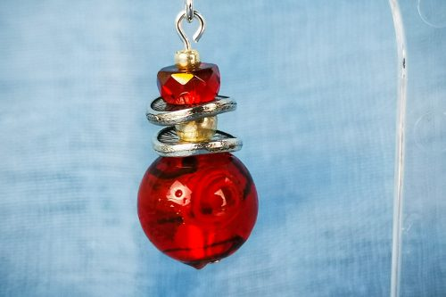 red-berry-earrings