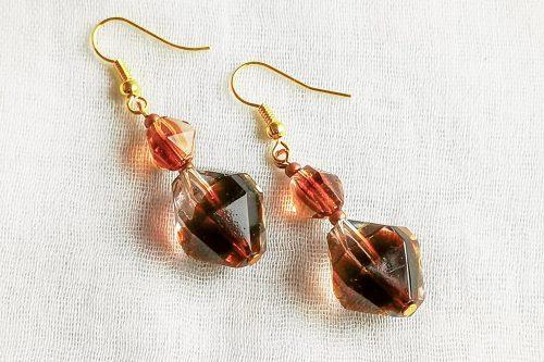 root beer earrings