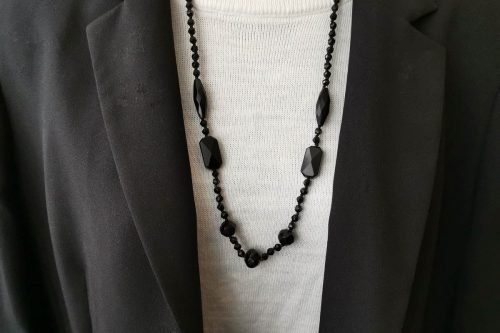 Victorian Whitby jet necklace