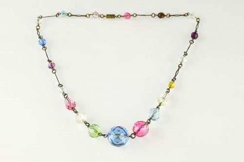 pastel glass necklace