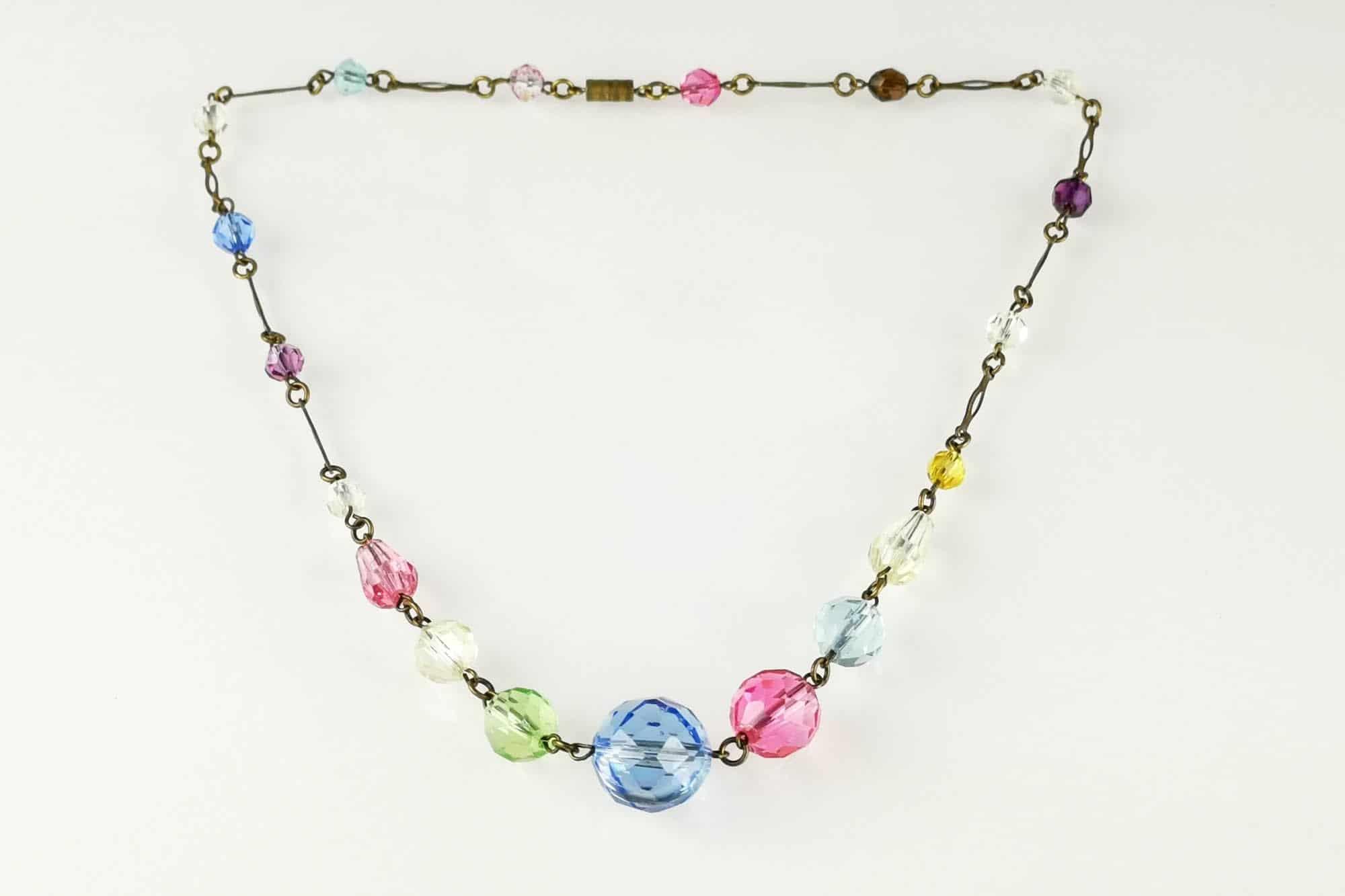 pastel glass necklace